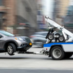 Police towing a car