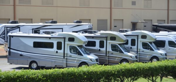 RV for sale lot