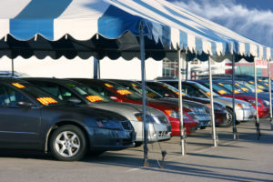 used cars on a car lot